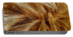 Wheat In The Sunset Portable Battery Charger