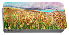 Wheat Landscape Portable Battery Charger