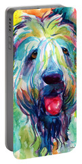 Wheaten Terrier Dog Portrait Portable Battery Charger