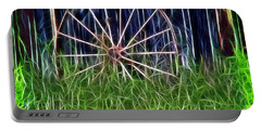 Portable Battery Charger featuring the photograph Wheel Of Fortune by EricaMaxine  Price