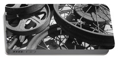 Wheels Of Time Portable Battery Charger by Tim Good