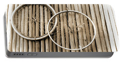 Wheels On Bamboo Portable Battery Charger