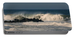 When The Ocean Speaks - Jersey Shore Portable Battery Charger