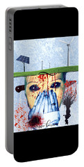 When They Take The Mind Portable Battery Charger by Vennie Kocsis