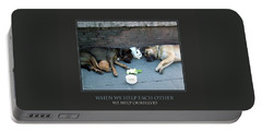 Portable Battery Charger featuring the photograph When We Help Each Other by Donna Corless