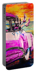 Portable Battery Charger featuring the painting When We Were Young by Viktor Lazarev