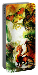 Where Dreams Begin Portable Battery Charger by Maria Urso