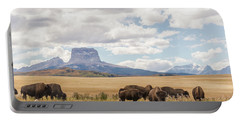 Where The Buffalo Roam Portable Battery Charger