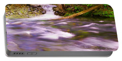 Portable Battery Charger featuring the photograph Where The Stream Meets The River by Jeff Swan