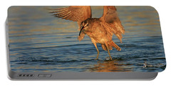 Portable Battery Charger featuring the photograph Whimbrel Colors by John F Tsumas