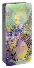 Whimsical Happy Dragon Portable Battery Charger by Ellen Levinson