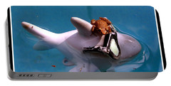 Whimsical Shark Portable Battery Charger by Irma BACKELANT GALLERIES