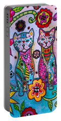 Whimsical Talavera Cats Portable Battery Charger