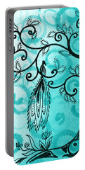 Whimsical Tree And Magical Bird Portable Battery Charger