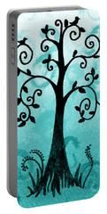 Whimsical Tree With Birds Portable Battery Charger
