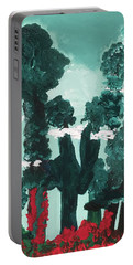 Whimsical Wintry Trees Portable Battery Charger by Karen Nicholson
