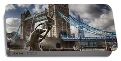 Whimsy At Tower Bridge Portable Battery Charger