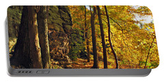 Portable Battery Charger featuring the photograph Whipp's Ledges In Autumn by Joan  Minchak