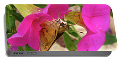 Whirl-about Skipper Butterfly Portable Battery Charger by Donna Brown