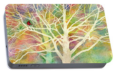 Portable Battery Charger featuring the painting Whisper by Hailey E Herrera