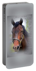 Whisper In The Wind Hoofprint Portable Battery Charger
