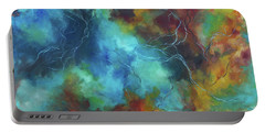 Portable Battery Charger featuring the painting Whispering Winds by Karen Kennedy Chatham