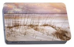 Portable Battery Charger featuring the photograph Whispers In The Dunes by Debra and Dave Vanderlaan