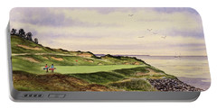 Whistling Straits Golf Course Hole 7 Portable Battery Charger by Bill Holkham