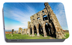 Portable Battery Charger featuring the photograph Whitby Abbey by Anthony Baatz