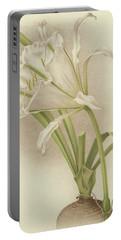 White Amaryllis   Ismene Andreana Portable Battery Charger