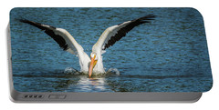 White American Pelican Portable Battery Charger
