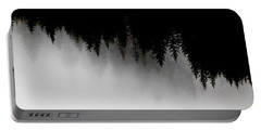 White And Black Trees Portable Battery Charger