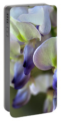 Wisteria White And Purple Portable Battery Charger