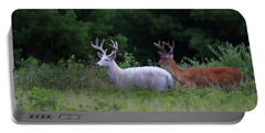 White And Brown Bucks Portable Battery Charger