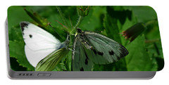 White And Grey Green Wings Portable Battery Charger