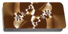 White And Milk Chocolate Fractal Portable Battery Charger