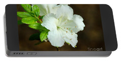 White Azalea  Portable Battery Charger by Rand Herron