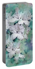 White Azaleas Portable Battery Charger