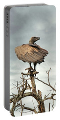 White-backed Vulture Perched On Tree Branch Portable Battery Charger