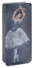 Portable Battery Charger featuring the painting White Ballerina by Jamie Frier