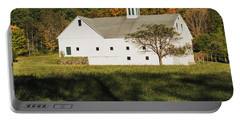 White Barn In Color Portable Battery Charger