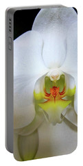 Portable Battery Charger featuring the photograph White Beauty by Lehua Pekelo-Stearns