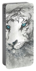 White Bengal Tiger Portable Battery Charger
