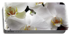 White Big Orchids  Portable Battery Charger