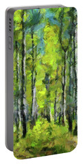White Birches Portable Battery Charger