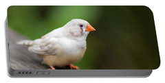 White Bird Standing On Deck Portable Battery Charger