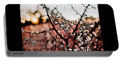 White Blossom Branches Portable Battery Charger