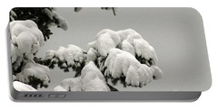 White Branches Portable Battery Charger