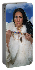White Buffalo Calf Woman Portable Battery Charger