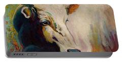 White Bull Portrait Portable Battery Charger
